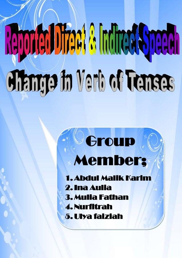 Group Member; 1. Abdul Malik Karim 2. Ina Aulia 3. Mulia Fathan 4. Nurfitrah 5. Ulya faiziah