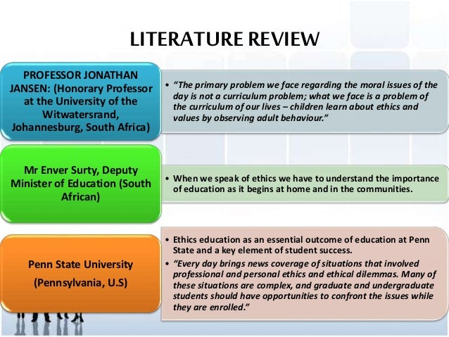 literature review business ethics Literature review on business ethics organizational design & business ethics: a literature review abstract a review of the current literature regarding business ethics was conducted analyzing scholarly peer-reviewed articles about business ethics and their relation to leadership, managerial decision making, corporate social responsibility and overall corporate structure.