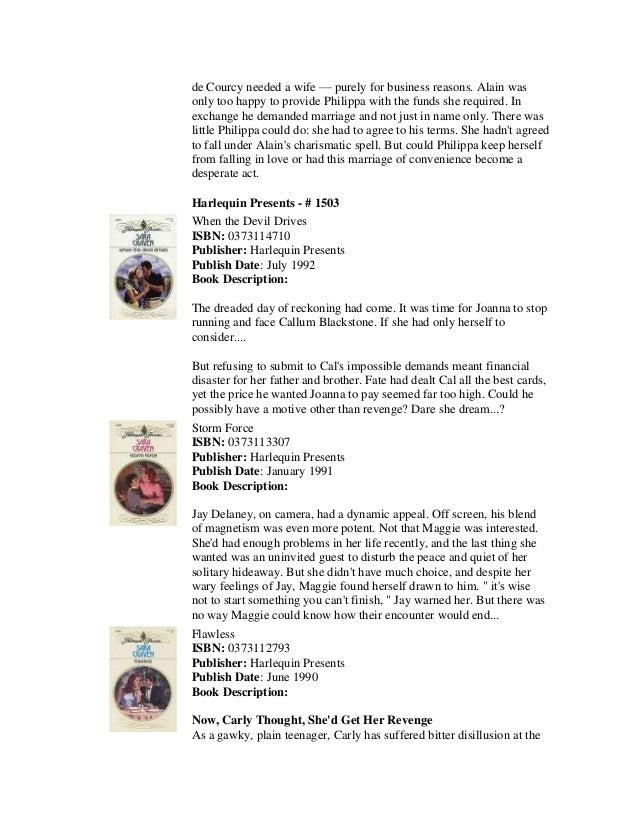Complete Booklist For Sara Craven