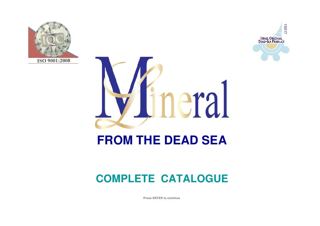 10017 FROM THE DEAD SEA   COMPLETE CATALOGUE       Press ENTER to continue