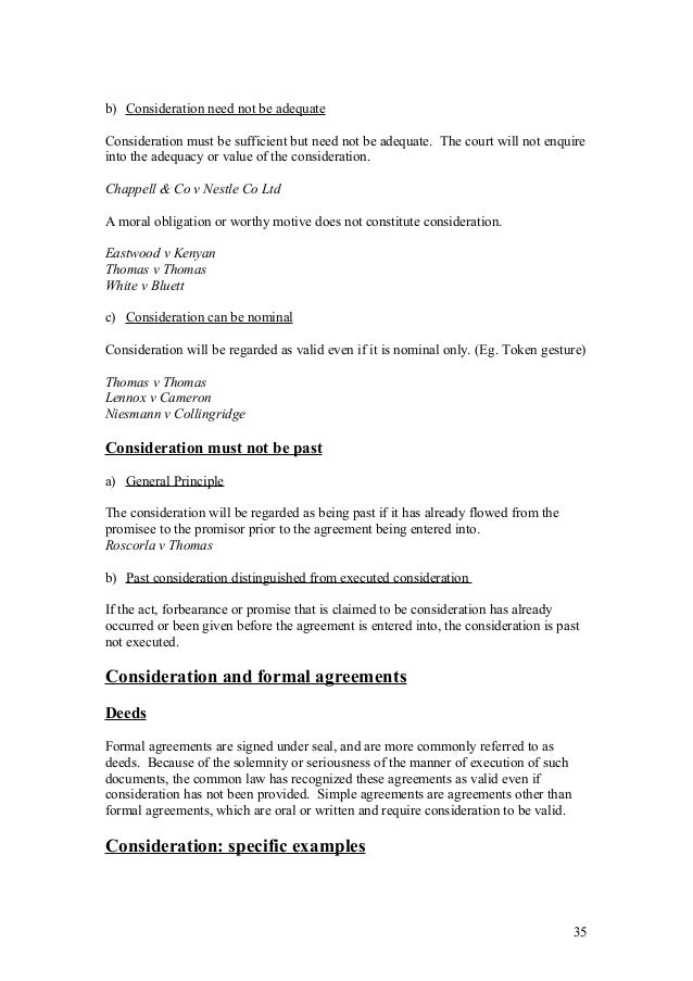 consideration chappell co v nestle What is consideration of contracts update cancel answer wiki 6 answers  it featured in chappell & co ltd v nestle co ltd ([1960] ac 87),.
