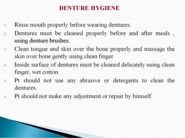 Complete Denture Instructions
