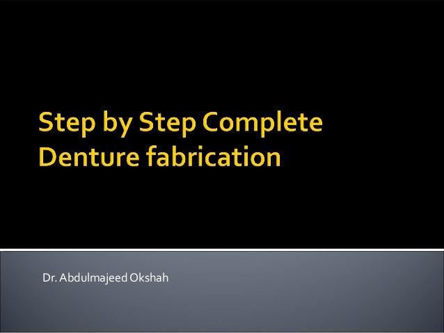 Complete dentures steps pdf