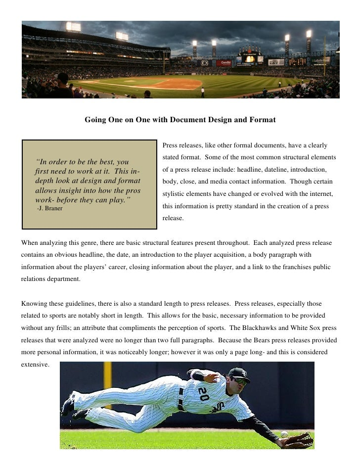 Sports press release 4 going one on one with document design and format press releases thecheapjerseys Gallery