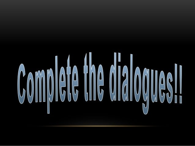 Complete dialogues. Restaurant vocabulary