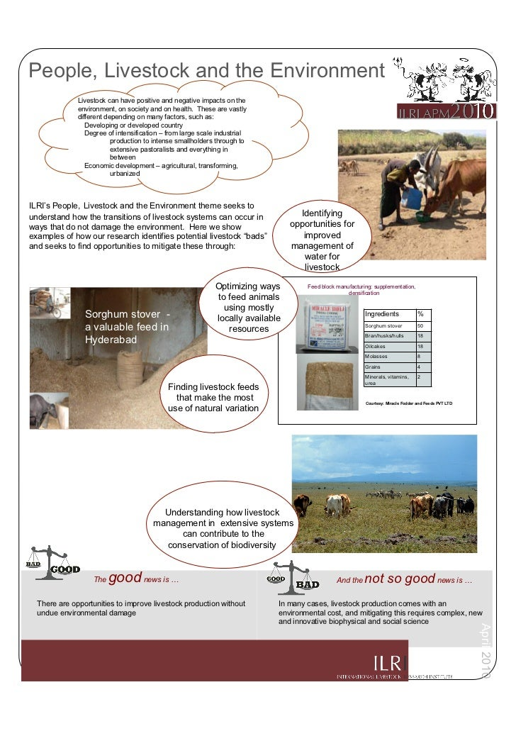 People, Livestock and the Environment               Livestock can have positive and negative impacts on the               ...