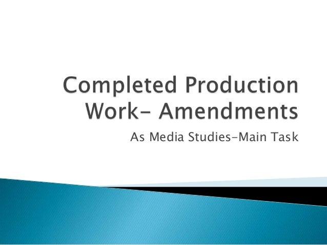 As Media Studies-Main Task