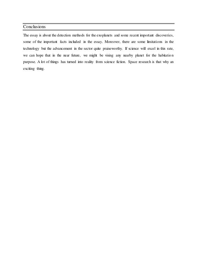 complete essay on exoplanet 10 conclusions the essay