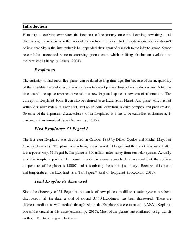 complete essay on exoplanet 10 3