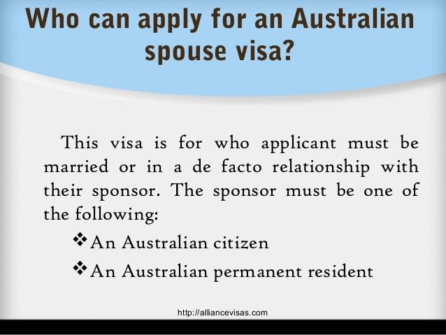 de facto visa australia registered relationship marketing