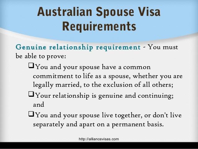 Australian Spouse Visa Requirements