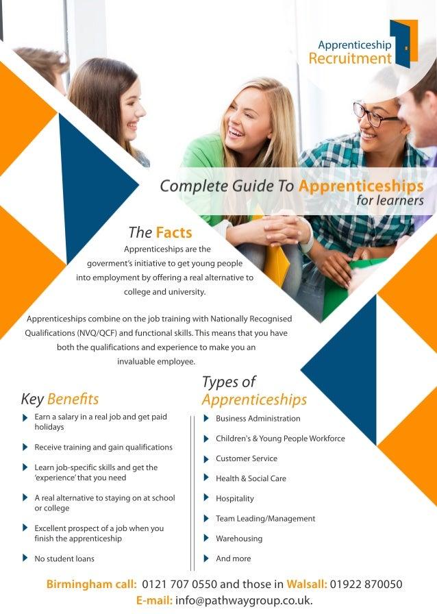 KeyBenefits Typesof Apprenticeships Birminghamcall:01217070550andthoseinWalsall:01922870050 E-mail:info@pathwaygroup.co.uk....
