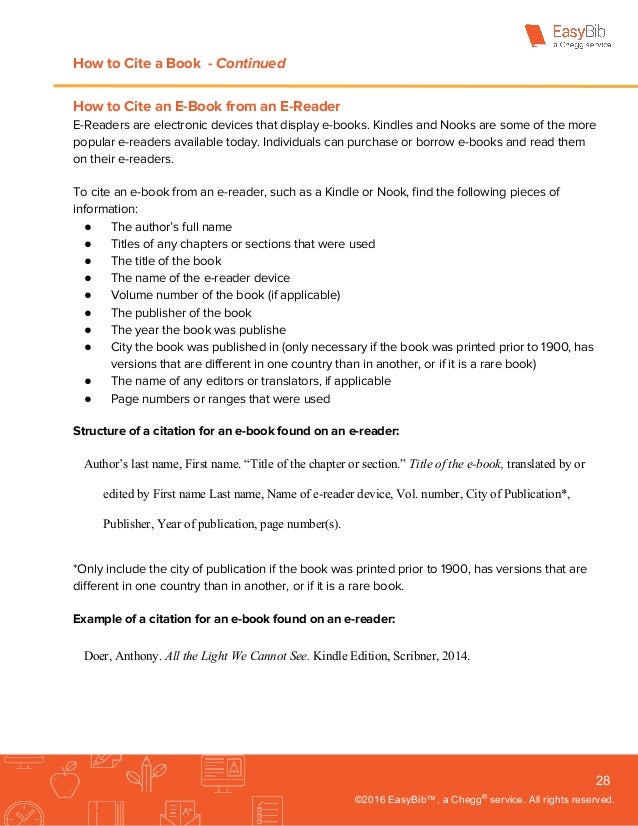 Complete guide to mla 8th edition by easybib how to cite a book ccuart Gallery