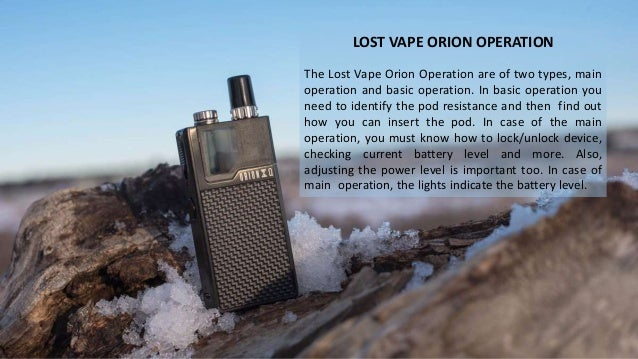 Complete guide to the lost vape orion mod