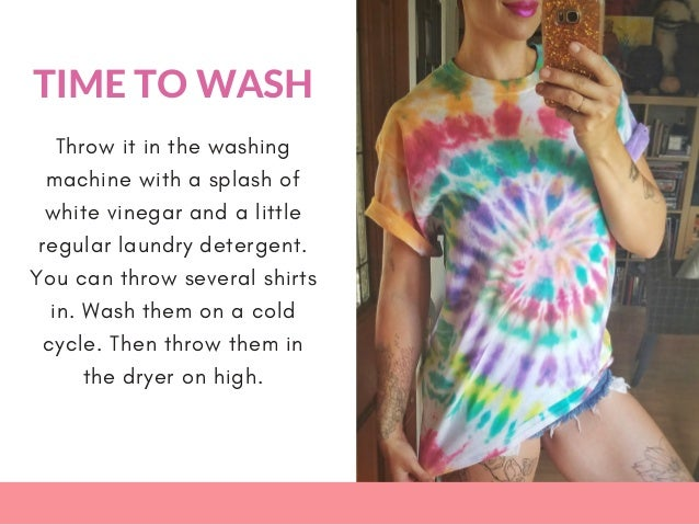 How do you wash a tie dye shirt with vinegar