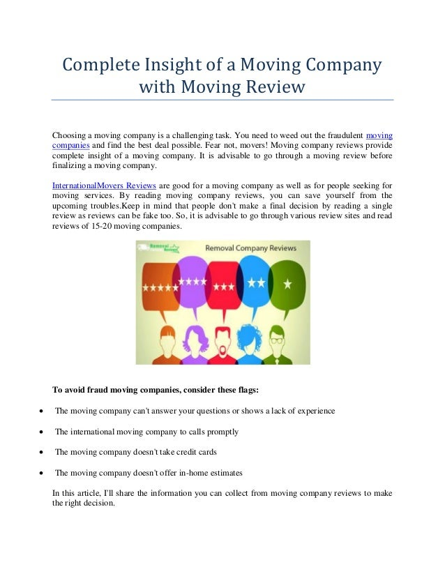 Moving Company Reviews >> Complete Insight Of A Moving Company With Moving Review