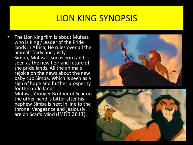 plot summary of the lion king