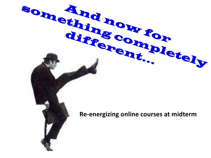 Re-energizing online courses at midterm
