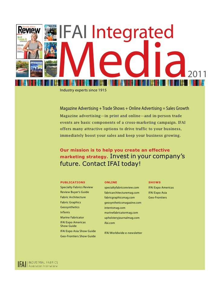 IFAI IntegratedMediaIndustry experts since 1915                                                                           ...