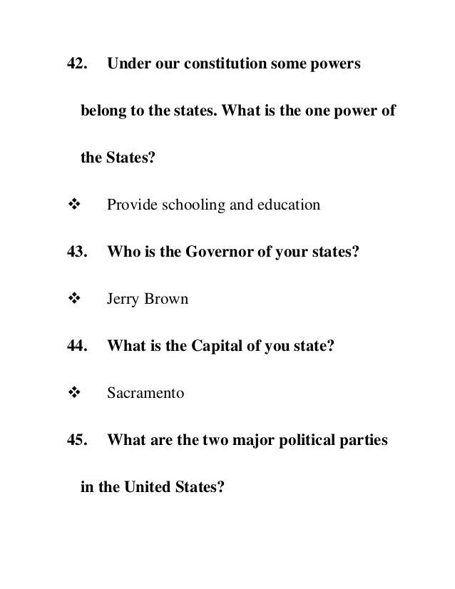 What powers belong to the federal government?