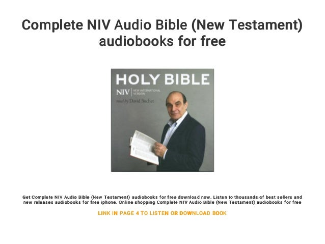 bible new niv of testament the bible the books audio