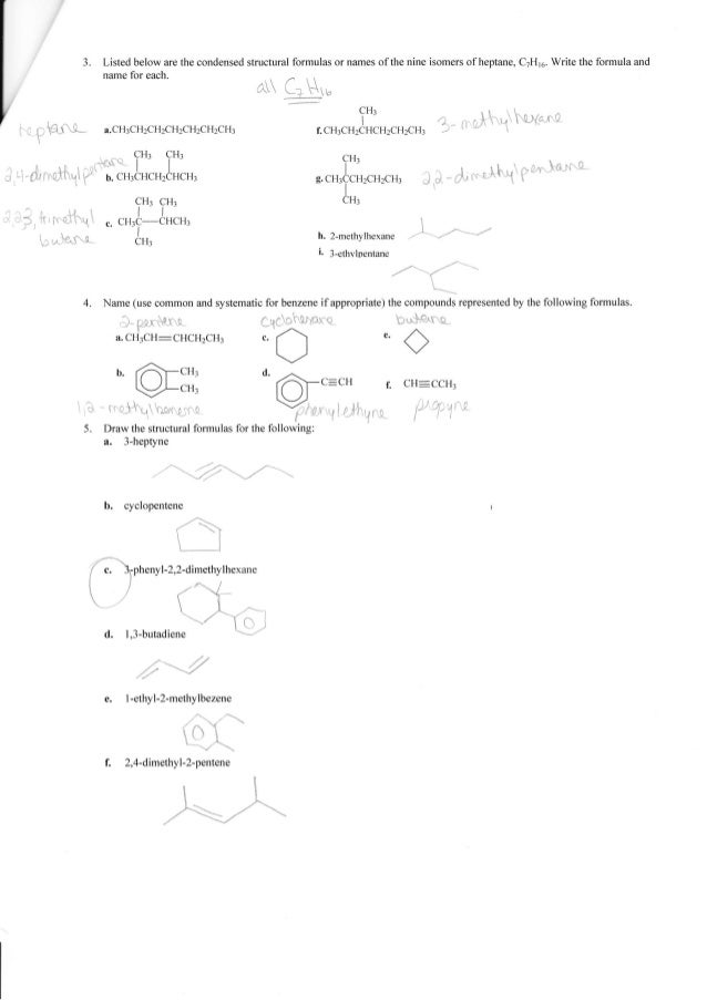 Printables Organic Compounds Worksheet Answers complete organic chemistry worksheet answers