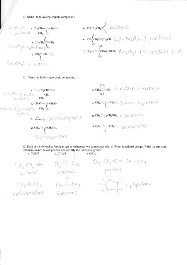 Printables Chemistry Worksheets With Answers complete organic chemistry worksheet answers 5 10