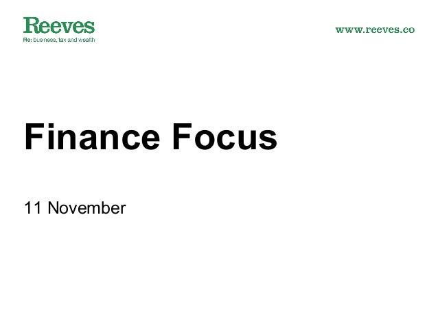 Finance Focus 11 November