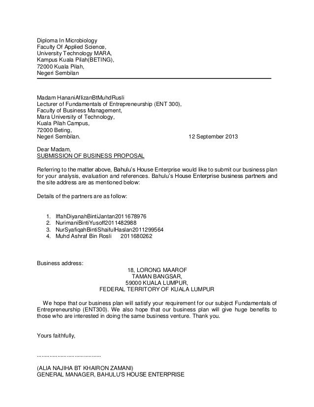 Ent300 Business Proposal