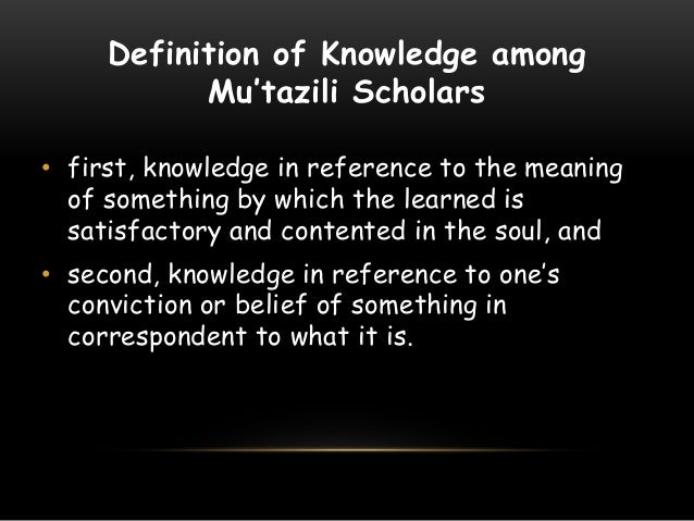 concept of knowledge in islam pdf