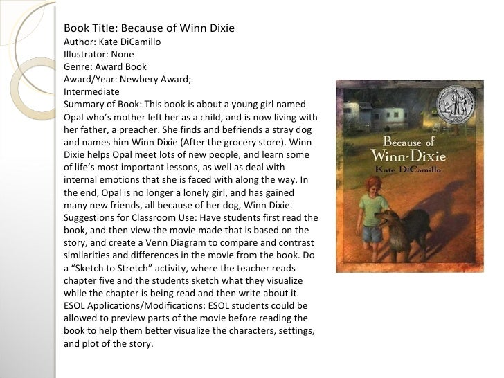 5 paragraph essay on because of winn dixie Start studying lauren 5 paragraph essay learn vocabulary, terms, and more with flashcards, games,  a key theme in because of winn dixie is abandonment.