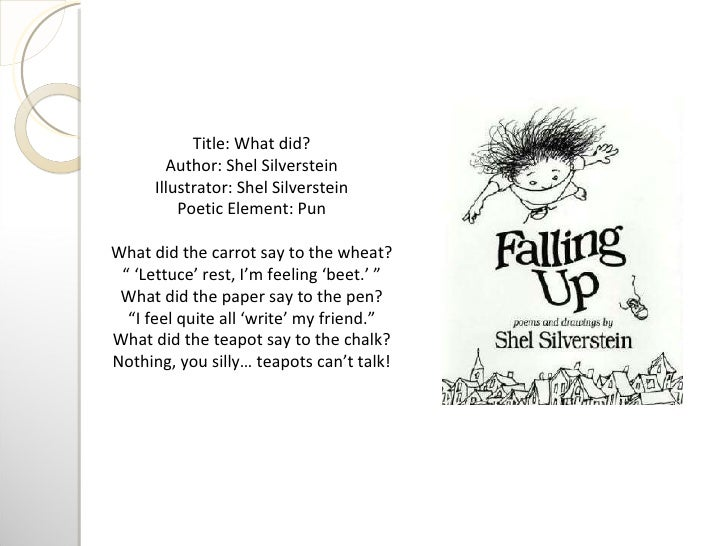 What S In The Sack Shel Silverstein: Complete Reading Response Project