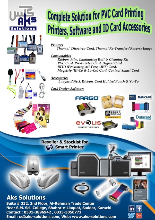 complete solution for pvc card printing and rfid card printing