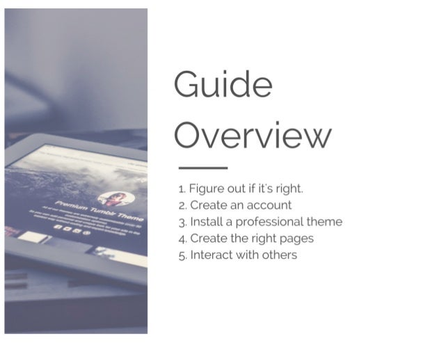 The Complete Starter Guide To Tumblr Marketing Slide 2