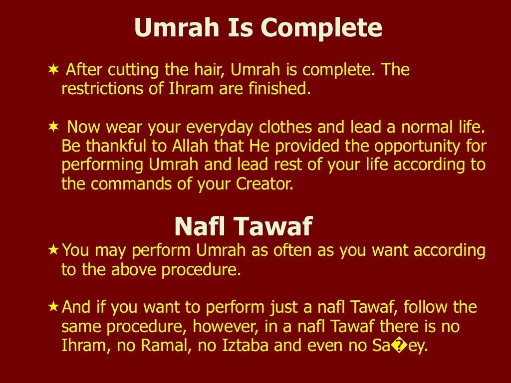 Umrah Is Complete ¬ After
