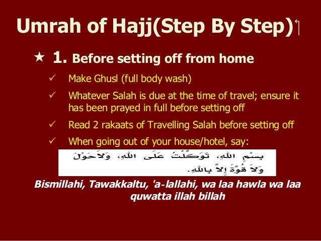 Umrah Of Hajj Step By Step