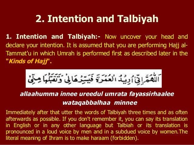 1 intention and talbiyah now rh slideshare net Hajj Umrah Poster Umrah Hajj Nights