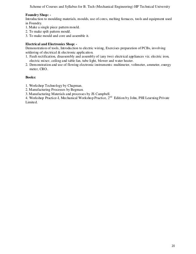 Complete syllabus mechanical