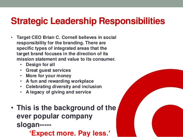 Target corp mission statement