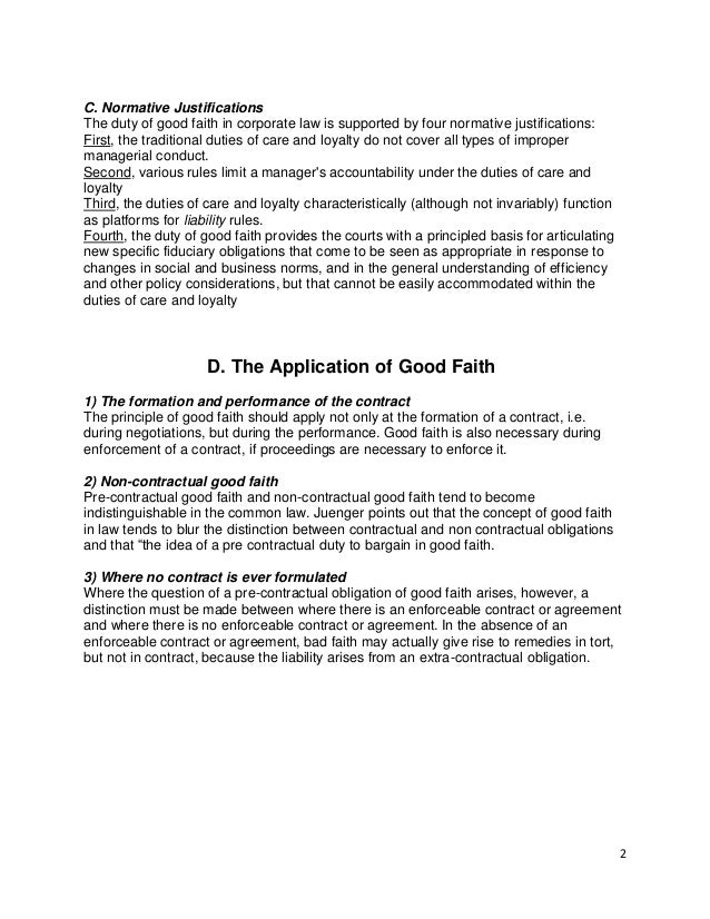 SlideShare  Good Faith Agreement