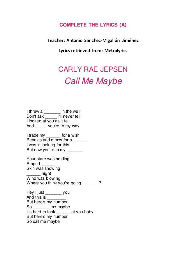 Carly Rae Jepsen Explains 'Call Me Maybe' Meaning ...