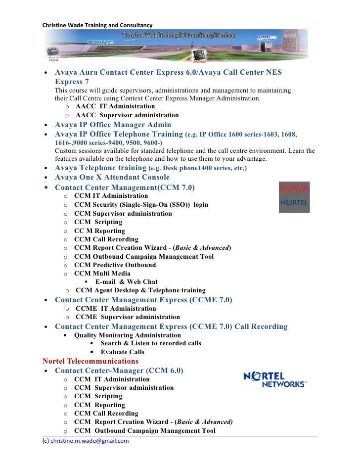 Avaya cms Supervisor Training Guide R17 Report designer user
