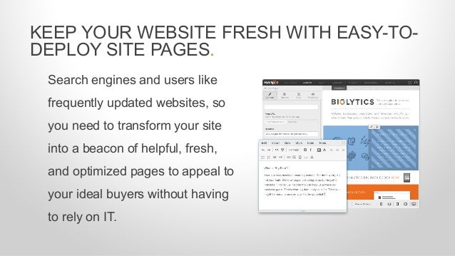 Search engines and users like frequently updated websites, so you need to transform your site into a beacon of helpful, fr...