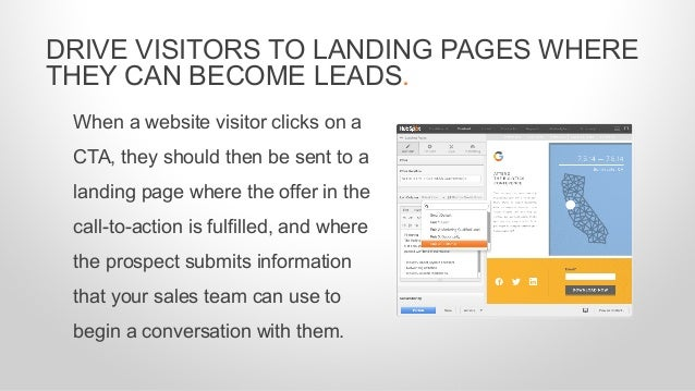 When a website visitor clicks on a CTA, they should then be sent to a landing page where the offer in the call-to-action i...