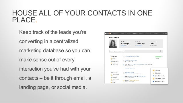 Keep track of the leads you're converting in a centralized marketing database so you can make sense out of every interacti...