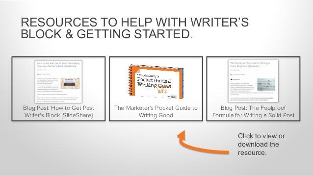 RESOURCES TO HELP WITH CONTENT IDEAS. Tool: Free Blog Topic Generator 5 Free Blog Post Templates Every Marketer Needs Blog...