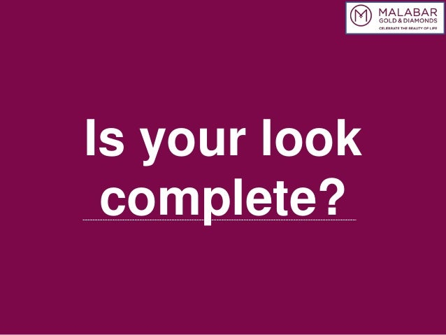 Is your look complete?