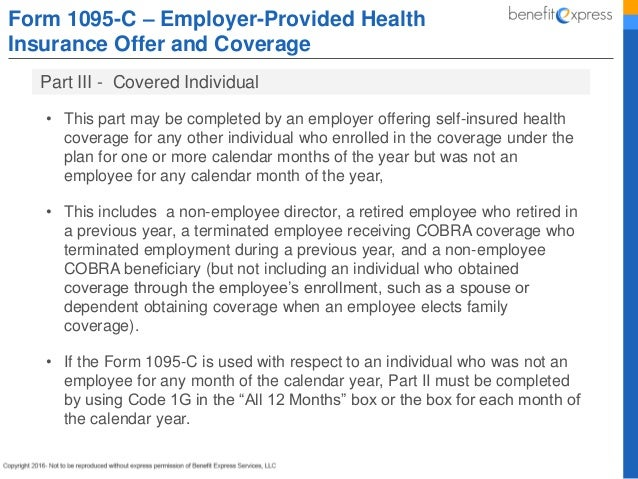 C Form Completed Examples on examples for cobra, employee communication, instructions fill,