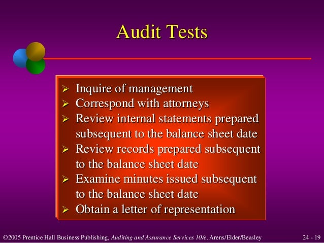 Standard audit representation letter dating