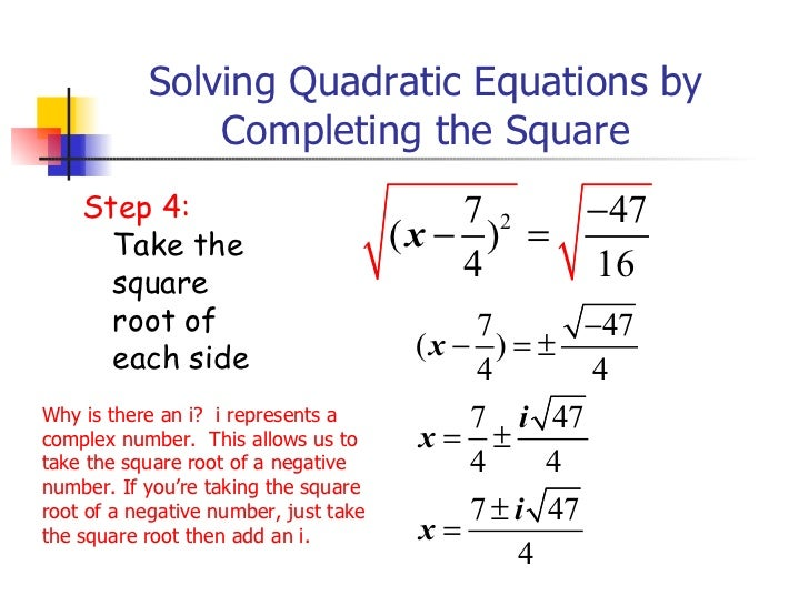 Completing the square added and revised 14 solving quadratic equations by completing the square step ccuart Choice Image